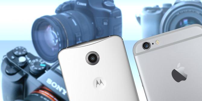 デジタルカメラとスマートフォン